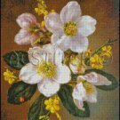 WINTER FLOWERS cross stitch pattern