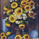 SUNFLOWER DAISY cross stitch pattern