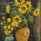 SUNFLOWERS 1 cross stitch pattern
