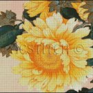 YELLOW FLOWER cross stitch pattern