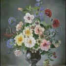 FLOWERS IN A VASE 3 cross stitch pattern