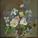 FLOWERS IN A VASE 4 cross stitch pattern