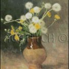 DANDELIONS IN A VASE cross stitch pattern