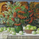 STILL LIFE WITH APPLES cross stitch pattern