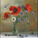 FLOWERS IN A VASE 6 cross stitch pattern