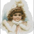 VINTAGE GIRL 3 cross stitch pattern