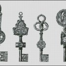 VINTAGE KEYS cross stitch pattern