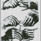 HANDS cross stitch pattern