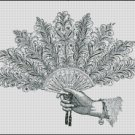 FAN cross stitch pattern