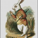 WHITE RABBIT 2 cross stitch pattern