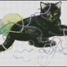 CAT PLAYING cross stitch pattern