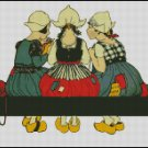 KNITTING GIRLS cross stitch pattern