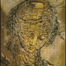 Raphaelesque Head Exploded cross stitch pattern