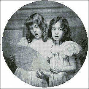 VINTAGE CHILDREN cross stitch pattern