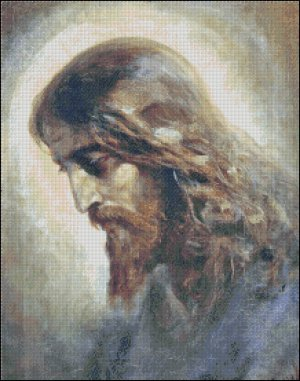 JESUS CHRIST cross stitch pattern