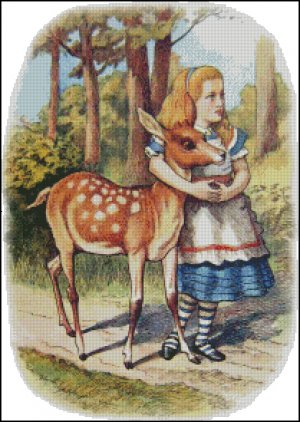ALICE AND FAWN cross stitch pattern