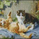 Kittens UP TO MISCHIEF cross stitch pattern