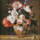 A VASE OF FLOWERS  cross stitch pattern No.664