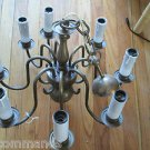 VINTAGE 8-Arm Solid Brass Chandelier