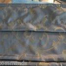 """NEW Fabric Roman Shade - Blue w/ Gold Brocade 31.25""""w x 65""""l"""