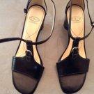 NEW Joan & David Black Leather Sandals - 8.5