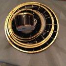 NEW Haviland Limoges 6-Piece Set - Tambour Black