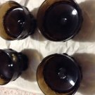 VINTAGE Tiffin Franciscan Madeira Smoke Brown Footed Dessert Glasses - set of 4