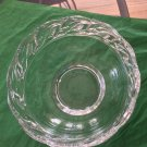 Tiffany Crystal Bowl with Dolphin Band - 8""
