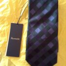NEW Faconnable Men's Blue Basketweave Silk Tie