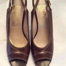 NEW Ferragamo Leather Women's Open-Toe Slingbacks -  5B