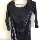 NEW LA PERLA Black Sequin Pailette Dress - 8