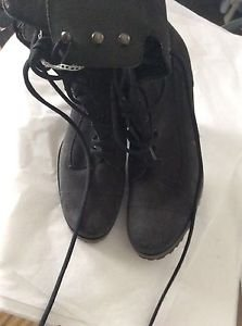NEW MIU MIU by Prada Gray Suede Lace-up Boots - EU 37/US 6.5