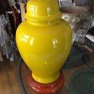VINTAGE 70's Glazed Ceramic Ginger Jar-Shaped Lamp