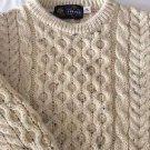 NEW Tivoli Aran Wool Chunky Cable Knit Children's Sweater - 5-7