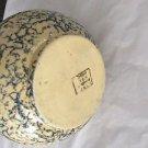 EXCELLENT CONDITION Vintage ROBINSON RANSBOTTOM Blue Spongeware Pitcher and Bowl