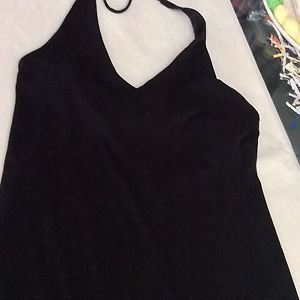EXCELLENT CONDITION J. Crew Women's Black Jersey Halter Dress - 6