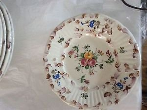 """VINTAGE Set of 10 Handpainted Made in Italy Small Plates - 7"""""""