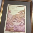 AUTHENTIC Yoshiko Yamamoto Limited Edition Signed Block Print - California Oaks2