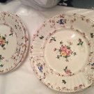 VINTAGE Set of 9 Handpainted Made in Italy Dinner Plates - 10.25""