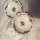 NEW Johnn Haviland China Moss Rose Pattern w/ Gold Edging Set of 7 Berry Bowls