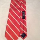 NEW Ralph Lauren Polo Orange Stripe Mens Silk Tie