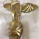 EXCELLENT CONDITION Delman Gold Sandals - 7 AA