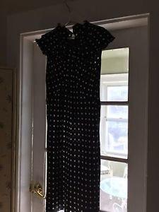 NEW Moschino Italy Silk Black & White Polka Dot Dress - 10