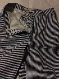 NEW Brooks Brothers 346 Women's Seersucker Pants - 8