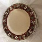 "Set of 6 Pfaltzgraff Mission Flower 11"" Dinner Plates"