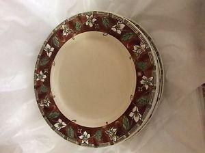"Set of 6 Pfaltzgraff Mission Flower 11"" Dinner Plates"