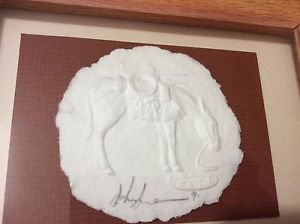 "AUTHENTIC John Saunders NM Paper Artist Casting of a Horse - 8"" x 4"""