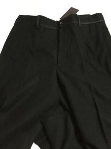 NEW PRADA Women's Navy Wool Trouser Pants w/ Side Banding - EU 48