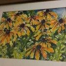 """ORIGINAL Watercolor Painting of Black-eyed Susans by Artist Debra Arter - 20""""W"""