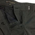 NEW Brooks Brothers Navy Blue Striped Wool-Blend Lucia Fit Dress Pants - 2